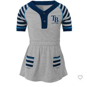 MLB Tampa Bay striped dress